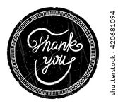 thank you   ink hand drawn... | Shutterstock .eps vector #420681094