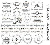 set of vector graphic elements... | Shutterstock .eps vector #420681478