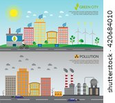 ecology infographic vector... | Shutterstock .eps vector #420684010