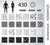 sport fitness icons set... | Shutterstock .eps vector #420684520