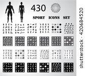 sport fitness icons set... | Shutterstock .eps vector #420684520