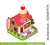 confectionery candy shop... | Shutterstock .eps vector #420687574