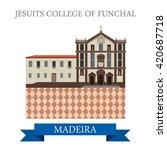 jesuits' college of funchal in... | Shutterstock .eps vector #420687718