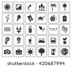 summer icons set | Shutterstock .eps vector #420687994