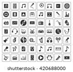 music icons set | Shutterstock .eps vector #420688000