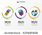 circle infographic. template... | Shutterstock .eps vector #420689608