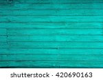 Blue Painted Old Wooden...