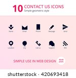 10 contact us icons. simple...