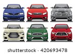 group of front facing luxury... | Shutterstock .eps vector #420693478