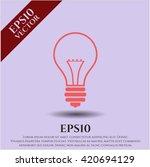 idea icon vector symbol flat... | Shutterstock .eps vector #420694129