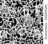 graffiti background seamless... | Shutterstock .eps vector #420695284