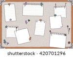 hand drawn illustration of pin... | Shutterstock .eps vector #420701296