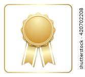 award ribbon gold icon. blank... | Shutterstock .eps vector #420702208