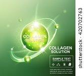 collagen serum and vitamin... | Shutterstock .eps vector #420702763