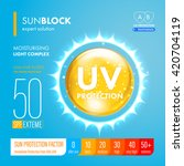 uv protection icon. ultraviolet ... | Shutterstock .eps vector #420704119