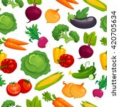 fresh healthy vegetables... | Shutterstock .eps vector #420705634