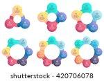 business infographics. circular ... | Shutterstock .eps vector #420706078