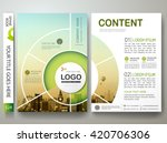 brochure design template vector.... | Shutterstock .eps vector #420706306
