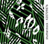 stripe fashion curved pattern... | Shutterstock .eps vector #420709876