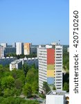 Small photo of Top view Zelenograd Administrative District, Moscow