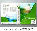 flyers design template vector.... | Shutterstock .eps vector #420719428