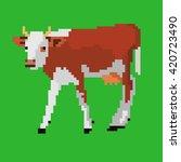 pixel art illustration of dairy ... | Shutterstock . vector #420723490