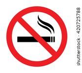 no smoking sign.vector... | Shutterstock .eps vector #420725788