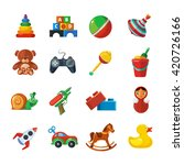 toys icons for kids isolate on... | Shutterstock .eps vector #420726166