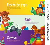 cartoon toys set for web... | Shutterstock .eps vector #420726190
