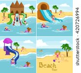 children summertime vacation... | Shutterstock .eps vector #420726994