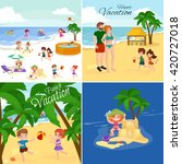 children summertime vacation... | Shutterstock .eps vector #420727018