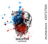 creative illustration of skull... | Shutterstock .eps vector #420727504