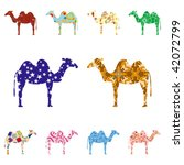 seamless pattern with camels | Shutterstock .eps vector #42072799