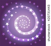 the star spiral. space... | Shutterstock .eps vector #420731443