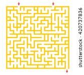 labyrinth for preschool... | Shutterstock . vector #420737836