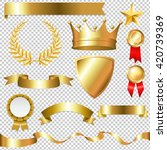 golden collection isolated ...   Shutterstock .eps vector #420739369