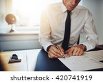 business man or accountant... | Shutterstock . vector #420741919