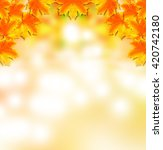 autumn foliage. golden autumn.... | Shutterstock . vector #420742180