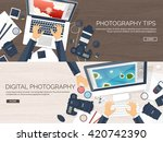 photography equipment with... | Shutterstock .eps vector #420742390