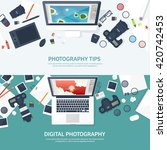 photography equipment with... | Shutterstock .eps vector #420742453