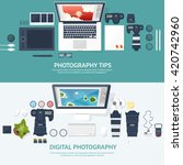 photography equipment with... | Shutterstock .eps vector #420742960