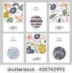 trendy creative hand drawn... | Shutterstock .eps vector #420742993
