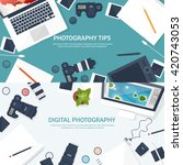 photography equipment with... | Shutterstock .eps vector #420743053