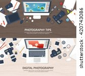 photography equipment with... | Shutterstock .eps vector #420743086