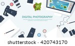 photography equipment with... | Shutterstock .eps vector #420743170