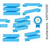 ribbon banners set. collection... | Shutterstock .eps vector #420743200