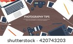 photography equipment with... | Shutterstock .eps vector #420743203