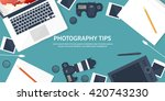 photography equipment with... | Shutterstock .eps vector #420743230