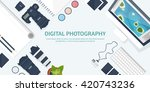 photography equipment with... | Shutterstock .eps vector #420743236