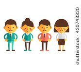 set of characters in a flat... | Shutterstock .eps vector #420743320